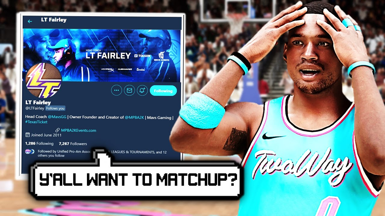 PRO 2K LEAGUE COACH ASKED To MATCHUP WITH US in NBA 2K21 PRO AM