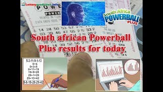 South african Powerball Plus results for today 2018