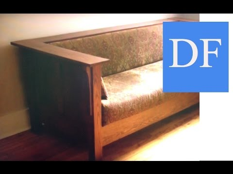 Woodworking Projects Craftsman Style Sofa Youtube