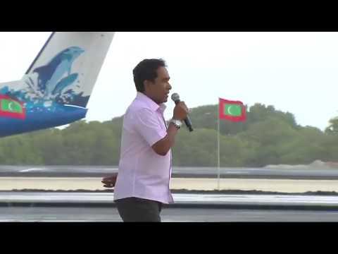 President Yameen meets the people of Kulhudhuffushi Island 21 09 2018