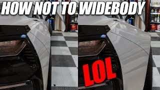 How NOT To Widebody Your Corvette