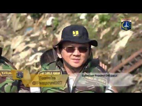 18 Mei 2016 Gub Basuki T. Purnama Peninjauan ke sungai Ciliwung yang akan dinormalisasi