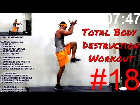 Flex Fit Boot Camp Class Workout 18 (Total Body Destruction Workout)