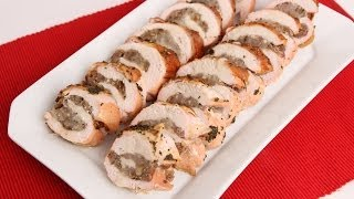 Roasted Stuffed Turkey Breast Recipe - Laura Vitale - Laura In The Kitchen Episode 676