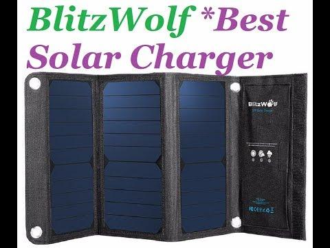 BlitzWolf Solar Charger Powerfull SunPower Panel External Battery Universal Powerbank.