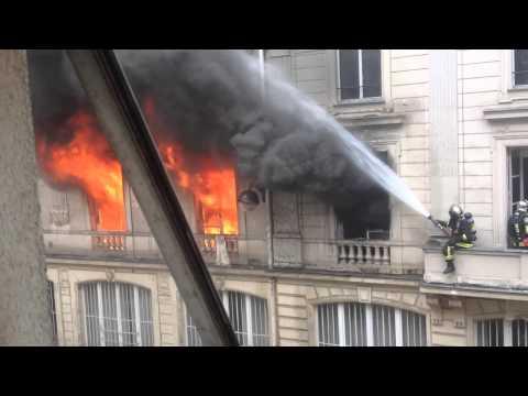 Intervention des pompiers à Paris
