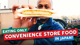CONVENIENCE STORE FOOD in JAPAN: Exploring Tokyo and Eating Konbini Food for 24 Hours
