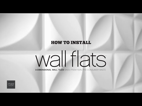 How To Install Inhabit Wall Flats 3d Wall Panels Youtube
