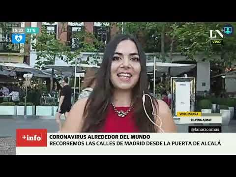 Coronavirus En España: Recorriendo Las Calles De Madrid