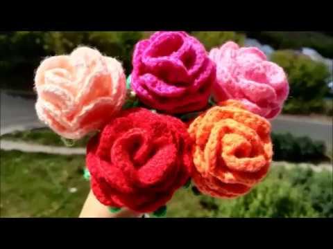 Стебель для вязаной розы 🌹 Rose Crochet