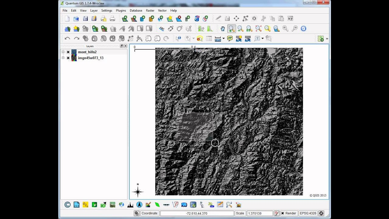 Tutorial #25: Creating Hillshade Layers and Mapping with Them in QGIS