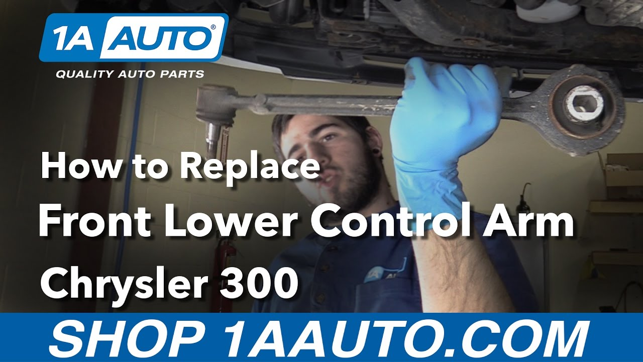 hight resolution of how to replace install front lower control arm 06 chrysler 300