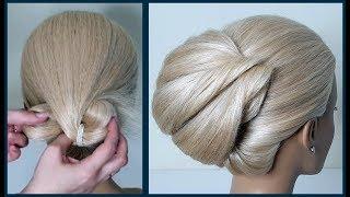 Прическа за 5 минут.Свадебная и Вечерняя прическа. Hairstyle in 5 min. Wedding and Evening hairstyle