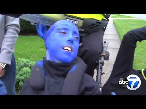 Fred And Angi - Anthony From Melrose Park Boy Dresses Up As Blue Man Group This Halloween