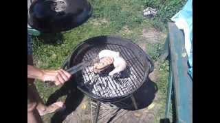Барбекю. Как разжечь угли для барбекю? Куриная грудка гриль. ukrainian chiken barbecue.