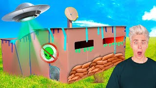 100% Indestructable CARDBOARD BUNKER in case of Alien Invasion ! - Challenge