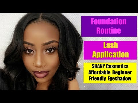 My Very DETAILED Face Routine ft. Affordable SHANY Eyeshadow Palette, & LASH Application.