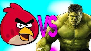 ХАЛК VS ЭНГРИ БЕРДС | СУПЕР РЭП БИТВА | Hulk Movie ПРОТИВ Angry Birds Game