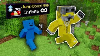 Minecraft Manhunt, But Evęry Jump Is Bigger