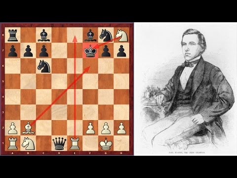 Paul Morphy's First Recorded Queen Sacrifice (Age 12)