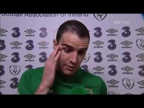 Republic of Ireland v Germany - Post Match Interview - John O'Shea (12/10/12)