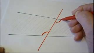 Накрест лежащие, односторонние и соответственные углы. Геометрия 7 класс
