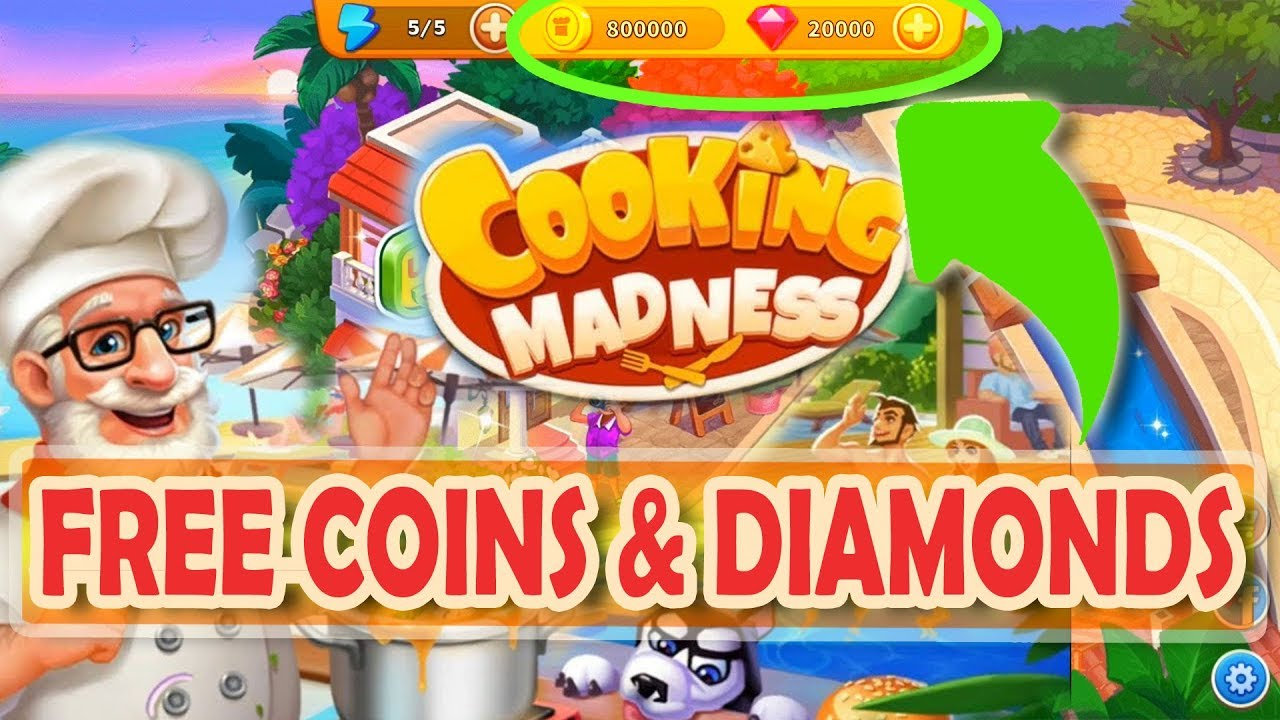 Cooking madness hack how to get free coins and diamonds