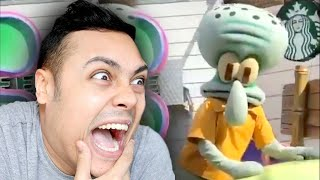 SOMEONE STOP SQUIDWARD (Reacting To Memes)