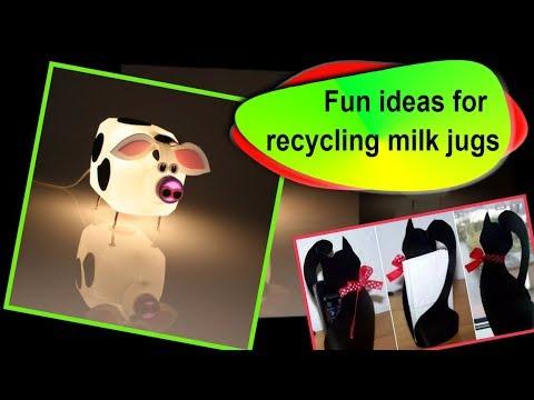 Recycled Milk Jug Crafts – 50+ is my favorite!