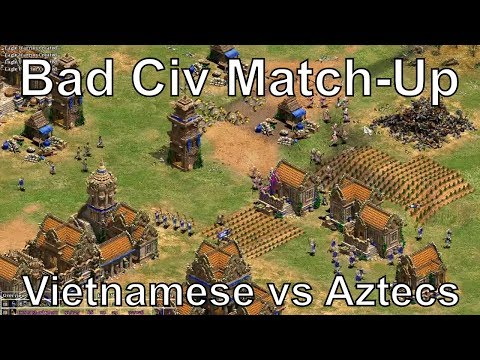 Aoe2: Experts - Vietnamese vs Aztecs (Bad Match-Up Strategy)