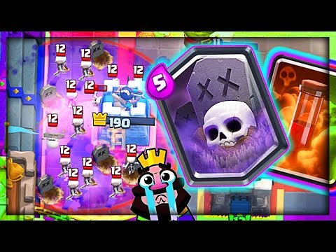 Legendary GRAVEYARD POISON IS OP in Clash Royale!