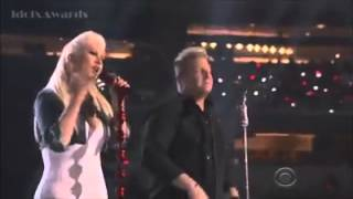 Christina Aguilera & Rascalflatts at the ACMs 2015