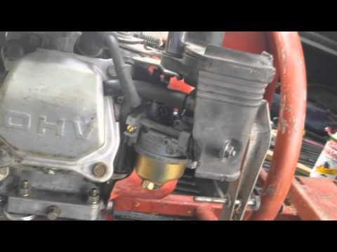 Idle Adjustment Honda GX160 and Honda Clones