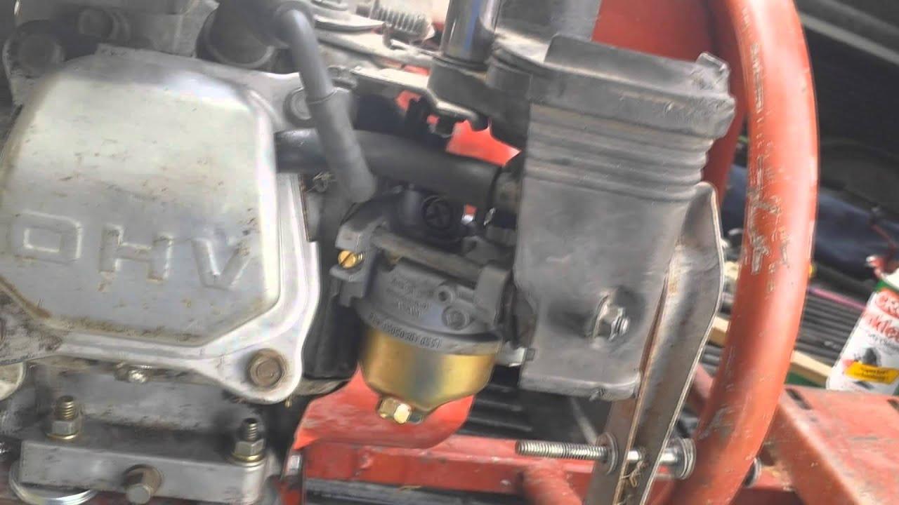 Idle Adjustment Honda GX160 and Honda Clones  YouTube
