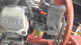 idle adjustment honda gx160 and honda clones