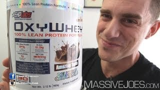 EHPlabs OxyWhey Protein Powder Review - MassiveJoes.com RAW Review EHP Labs Oxy Whey