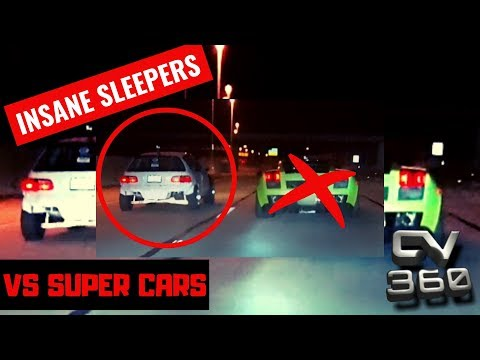 Street Racing - SuperCars vs Sleepers INSANE 2019