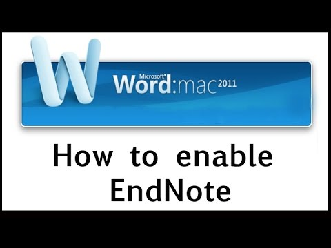 How to enable EndNote on Word Mac 2011 - YouTube - on word