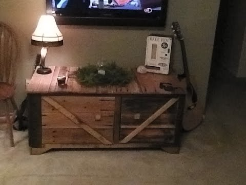 Tv stand made with pallet wood youtube