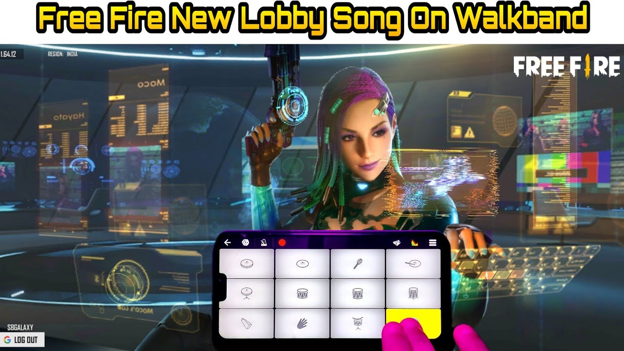 FREE FIRE - New Lobby Song On Walkband | Elite Moco New Update Theme Song ( Piano Cover )