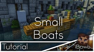 Minecraft Tutorial | Small Boats