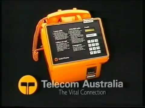 Telecom Australia Gold Phone Commercial 1985