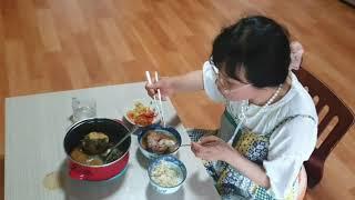 김영화 목사님 뼈다귀 감자탕 먹방 ♡