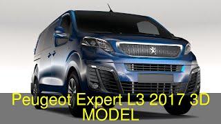 3D Model of Peugeot Expert L3 2017 Review