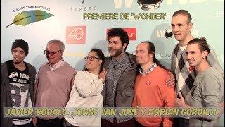 Entrevista a Jorge San José, Adrian Gordillo y Javier Bodalo - Premiere de 'Wonder'