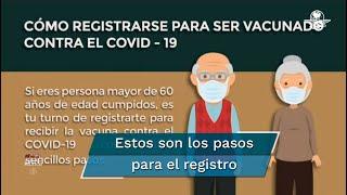 Inicia registro de adultos mayores para vacunarse contra el Covid-19