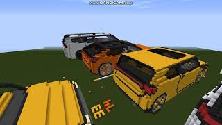 My minecraft car creation map overview and new builds