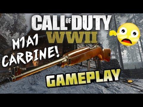 COD World War 2 M1A1 Carbine Insanity! Multiplayer Gameplay