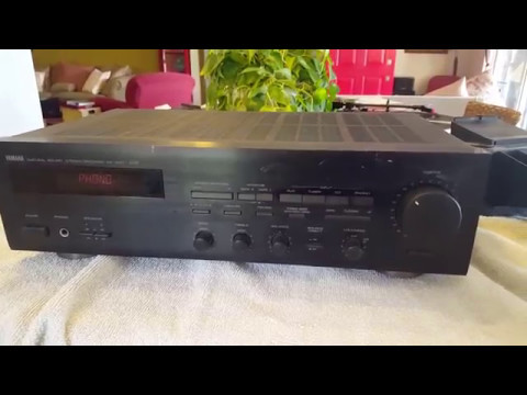 a yamaha model rx 460 stereo receiver youtube. Black Bedroom Furniture Sets. Home Design Ideas