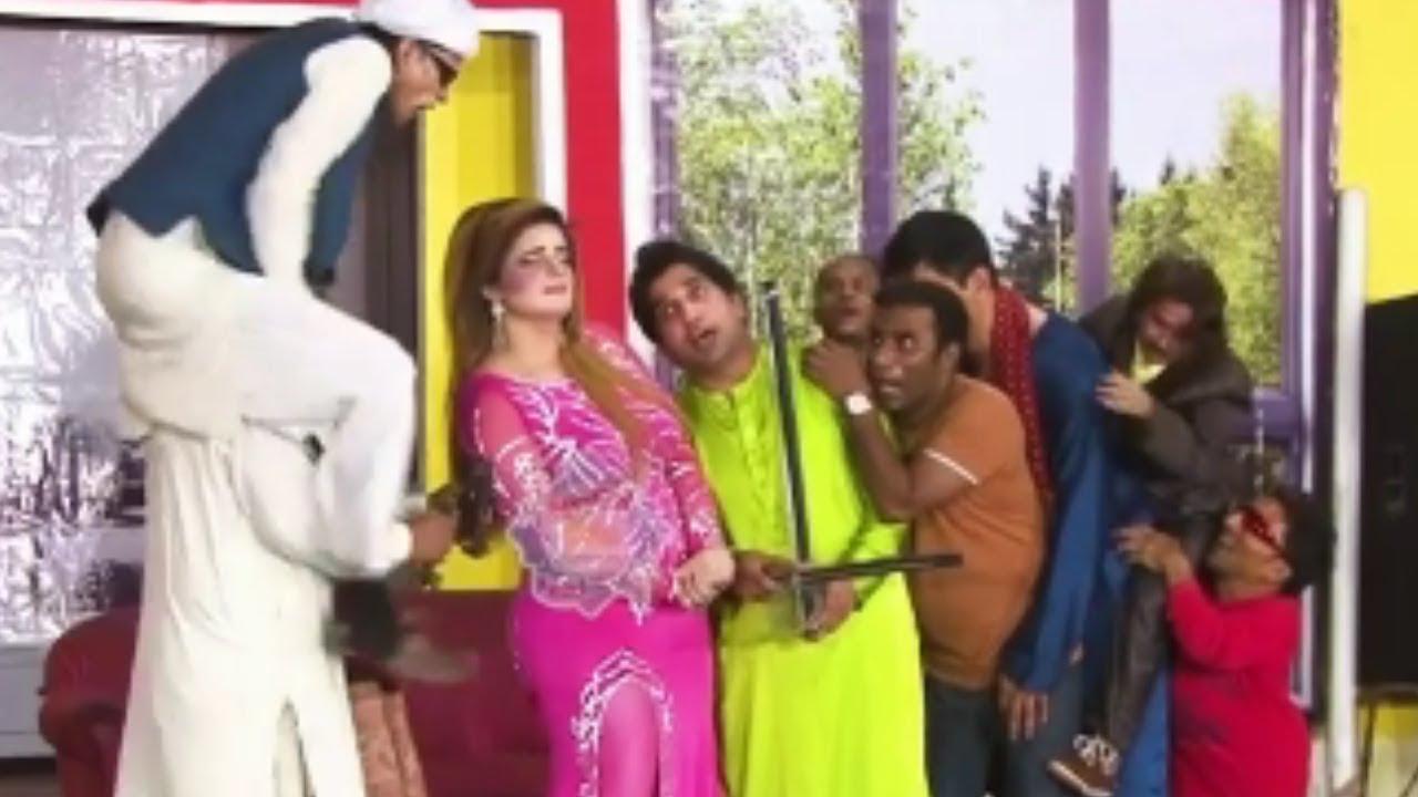Amjad Rana and Sakhawat Naz with Khoobsurat Kaif Stage Drama Janu Meri Jaan Comedy Clip 2020